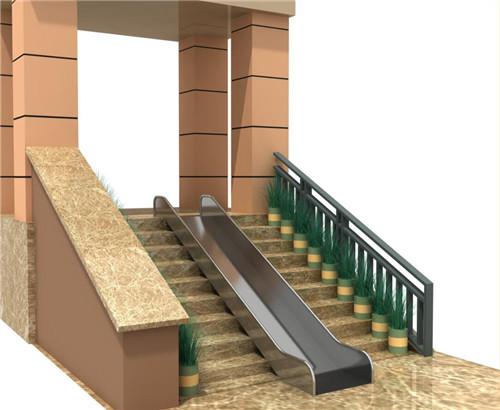 不锈钢直板滑梯